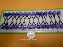 purple light ELASTIC TIE JUMBO BEADS HAIR KNOCKER GIRL SCRUNCHIE BALLS PONYTAIL HOLDER