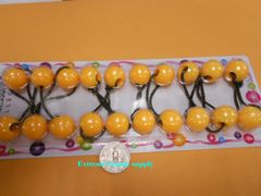 yellow ball ELASTIC TIE JUMBO BEADS HAIR KNOCKER GIRL SCRUNCHIE BALLS PONYTAIL HOLDER tie
