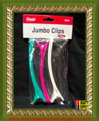 plastic black 6 inch long jumbo control clips white blue pink