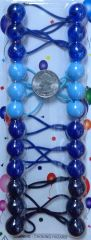 sky blue white ELASTIC tie jumbo beads hair Knocker girl Scrunchie Balls Ponytail Holder