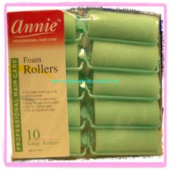 """annie Foam roller 1"""" x 2 1/2"""" large inch jumbo 14 count pink dry damp set green"""