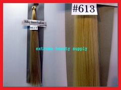 straight silky color 613 BLEACH BLOND 100% kanekalon synthetic braid hair dreadlock dread lock doll reroot paty COSTUME crown stage play