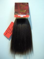 "LORD & CLIFF perm yaki 100% HUMAN HAIR STRAIGHT WEAVE 16 "" inch EXTENSION CORSE TEXTURE TANGLE FREE1"