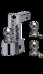 "FASTWAY FLASH™ Adjustable Locking Ball Mount (ALBM) 4"" Drop with 2.5"" Receiver"