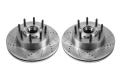 Power Stop Drilled and Slotted Brake Rotors Front or Rear 2013-2016 Super Duty