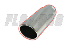 Flo Pro Stainless Steel Exhaust Tips Rolled Angle