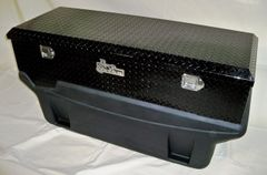 Titan Fuel Tanks Large Locking, Black Diamond Plate Aluminum, Toolbox 1999-2017 F250-450