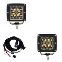 Offroad LED Bars 3 inch LED Dual Cube Kit Spot Beam