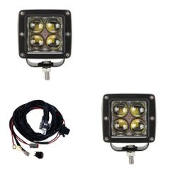 Offroad LED Bars 3 inch LED Dual Cube Kit Flood Beam
