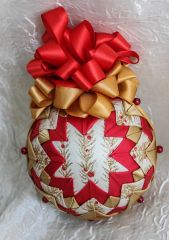 Golden holly ornament