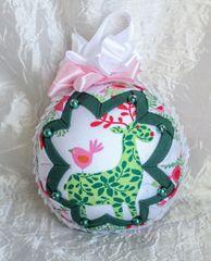 Green & orange reindeer ornament - LIMITED EDITION