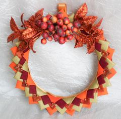 Fall wreath-orange berries