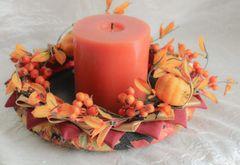 Orange pumpkin centerpiece - Fall decor