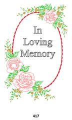 Single Memorial Card 417