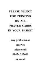 Printing on prayer cards