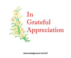 Acknowledgement Card G2