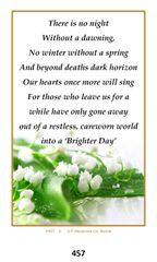 Single Memorial Card 457
