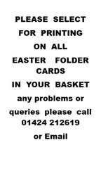 Printing on Easter folder cards