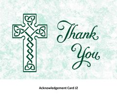Acknowledgement Card J2