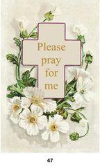 Single Memorial Card 47