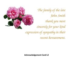 Acknowledgement Card L2