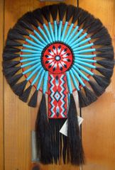 Hand Beaded Navajo Horse Hair Bustle by Linda Lee and Dorothy Manning