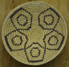 Deep Hand Woven Navajo Coil Basket
