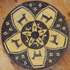 Large Hand Woven Navajo Coil Basket by Linda K. Wilson