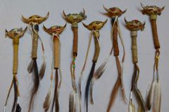 Handmade Badger Claw Medicine Rattle
