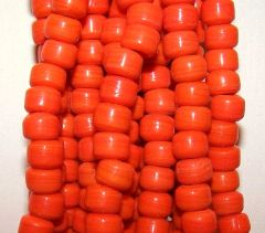 Crow Beads - Opaque Orange