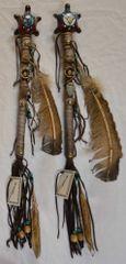 Handmade Navajo Dance Rattle - Turtle Design