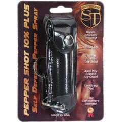 PEPPER SHOT 1/2 oz. LEATHERETTE HOLSTER with Quick Release Key Chain in Black