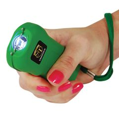 THE RECHARGEABLE 18 MILLION VOLT TRIGGER STUN GUN TRIGGER-GREEN