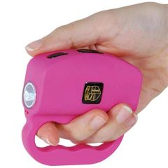 18 MILLION VOLT TALON STUN GUN AND FLASHLIGHT -PINK