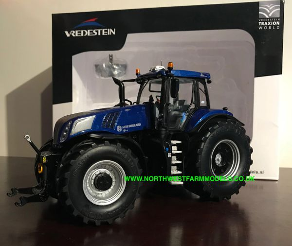 """MARGE MODELS 1:32 SCALE NEW HOLLAND T8.435 """"BLUE POWER"""" VREDESTEIN EDITION **NEW**"""