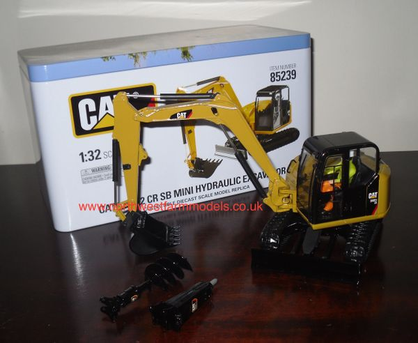 DIECAST MASTERS DM85239 CAT 308E2 CR SB HYDRAULIC EXCAVATOR (METAL COLLECTORS BOX)