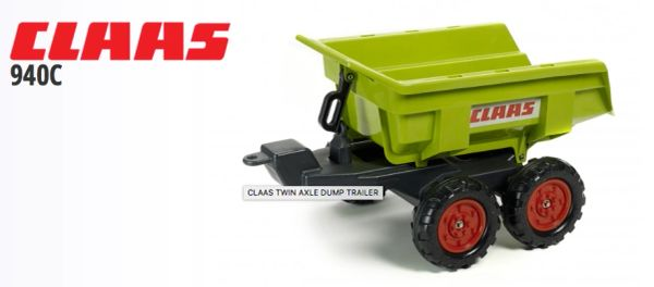 FALK RIDE ON TOYS TWIN AXLE DUMPER TRAILER