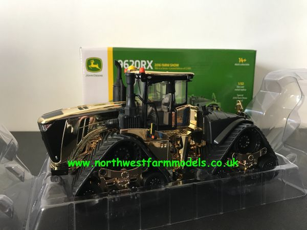 ERTL 1:32 SCALE JOHN DEERE 9620RX ARTICULATED TRACKED TRACTOR GOLD CHROME LIMITED EDITION