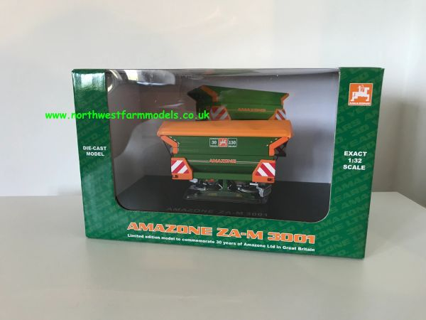 UNIVERSAL HOBBIES 1:32 SCALE AMAZONE ZA-M 3001 FERTILISER SPREADER 30 YEARS EDITION