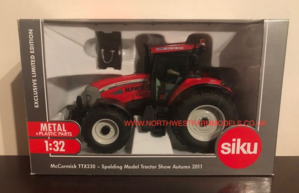 "SIKU 1/32 SCALE McCormick TTX230 SPALDING MODEL TRACTOR SHOW 2011 ""HAWK HIRE"" LIMITED EDITION"