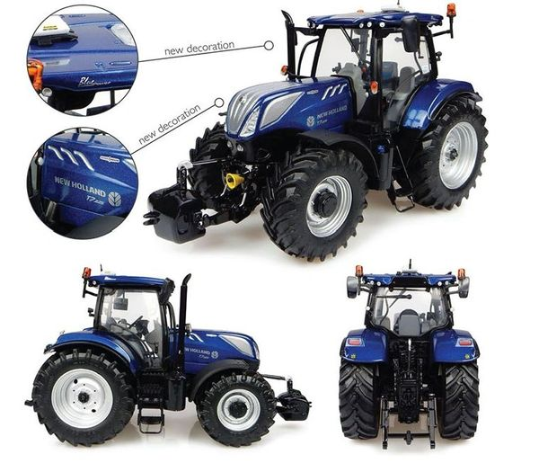 "UH4976 UNIVERSAL HOBBIES 1/32 SCALE NEW HOLLAND T7.225 BLUE POWER (2016) ""NEW DECALS"""