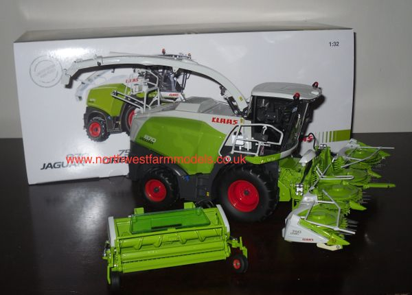 WIKING 1/32 CLAAS JAGUAR 870 WITH ORBIS 750 MAIZE HEADER & PU 300 GRASS PICKUP HEADER **LIMITED EDITION**