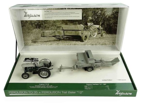 UNIVERSAL HOBBIES 1:32 SCALE FERGUSON TO35 AND F12 TRAIL BALER LIMITED EDITION BOX SET