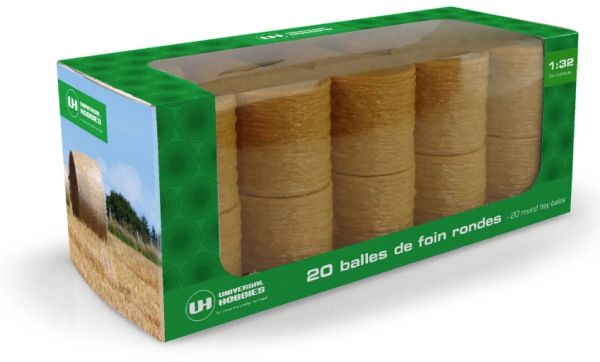 UNIVERSAL HOBBIES 9750 1:32 SCALE 20 PACK OF ROUND BALES