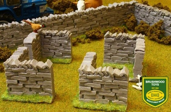 BRUSHWOOD TOYS AUTHENTIC STONE WALLS CORNER SECTIONS BT3007