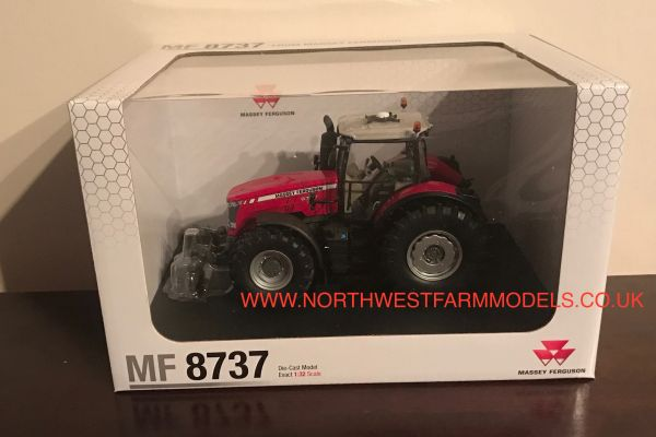 UH4231 1/32 Universal Hobbies Massey Ferguson 8737 Model Tractor (Dealer Box)