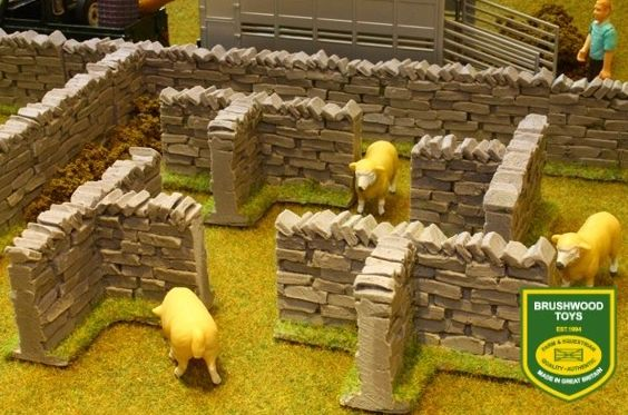 BRUSHWOOD TOYS AUTHENTIC STONE WALLS T-SECTIONS BT3008