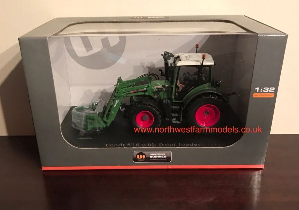 UH4271 UNIVERSAL HOBBIES 1/32 SCALE FENDT 516 VARIO WITH FRONT LOADER AND BALE GRAB