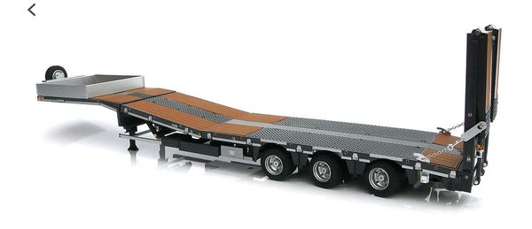 MARGE MODELS 1:32 SCALE NOOTEBOOM LOW LOADER (ANTHRACITE), WOODEN PANELS