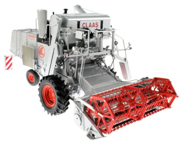 """UNIVERSAL HOBBIES 1/32 SCALE CLAAS MATADOR GIGANT """"SILVER"""" LIMITED EDITION COMBINE"""